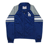 Los Angeles Dodgers Womens G-III Base Runner Full Zip Track Jacket Blue Grey