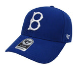 Brooklyn Dodgers Adjustable '47 Brand MVP Cap Hat Blue