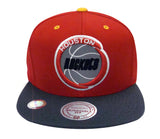 Houston Rockets Snapback Mitchell & Ness 3M XI Logo Cap Hat Red Charcoal