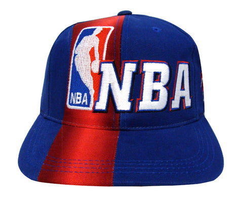 NBA Snapback Retro Vintage Front Line Cap Hat Blue Red