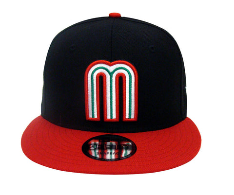 Mexico Snapback New Era 9FIFTY World Baseball Classics Cap Hat Black Red