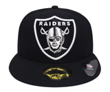Oakland Raiders Fitted New Era 59FIFTY Logo Grand Cap Hat Black