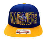 Seattle Mariners Snapback American Needle Middle Block Cap Hat Blue Yellow