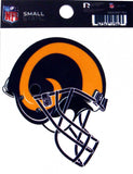 Los Angeles Rams Helmet Small Static Cling Sticker