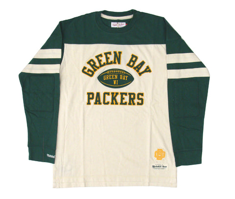 Green Bay Packers Mens T-Shirt Mitchell & Ness Swing Pass Longsleeve