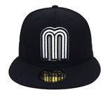 Mexico Fitted New Era 59FIFTY Black White m Logo World Baseball Classics Cap Black