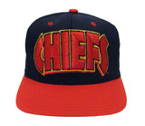 Kansas City Chiefs Snapback Retro Vintage Block Cap Hat Black Red