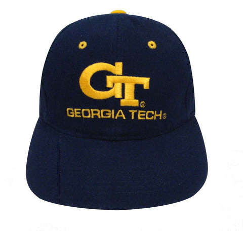 Georgia Institute of Technology Snapback Retro Vintage Name & Logo Cap Hat Navy