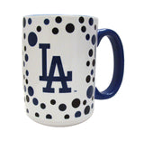 Los Angeles Dodgers 15oz Polka Dot Accent Mug