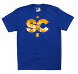 Golden State Warriors Mens Adidas Stephen Curry City Monogram T-Shirt Blue