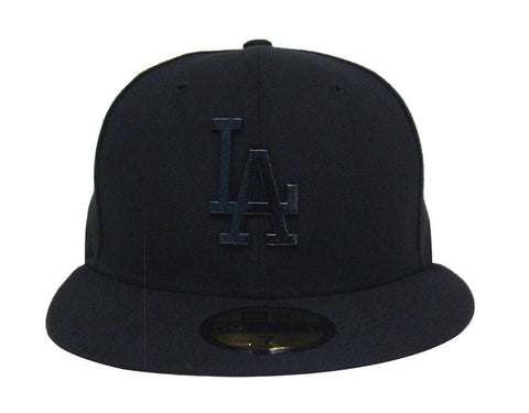Los Angeles Dodgers Fitted New Era 59FIFTY Speckle Sheen Cap Hat Black