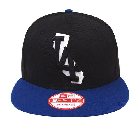 Los Angeles Dodgers Snapback New Era 9FIFTY State Logo Cap Hat Black Blue