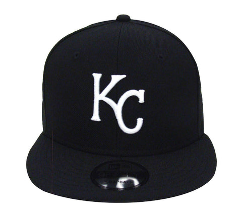 Kansas City Royals Snapback New Era White Logo & Snaps Cap Hat Black