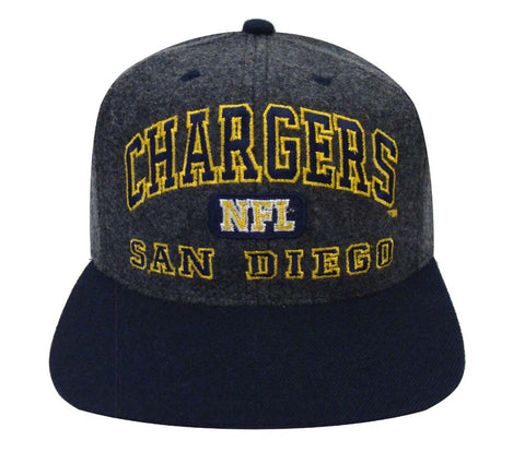 San Diego Chargers Snapback Retro Vintage Block Cap Hat Charcoal Navy