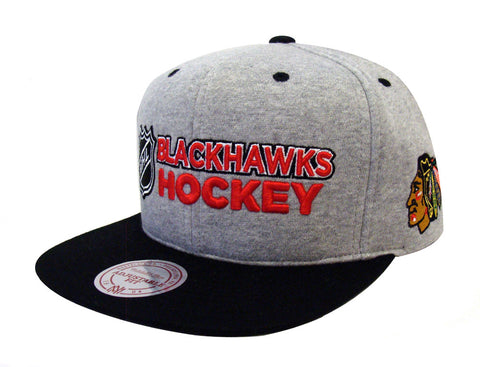 Chicago Blackhawks Snapback Mitchell & Ness Heather Jersey Cap Hat Grey