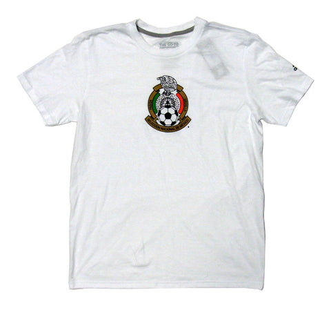 Mexico Men's Adidas Soccer Team Crest T-Shirt White