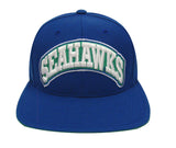 Seattle Seahawks Snapback Retro Vintage Arch Block Cap Hat Blue