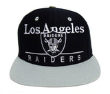 Los Angeles Raiders Snapback Retro Dash Cap Hat Black Grey