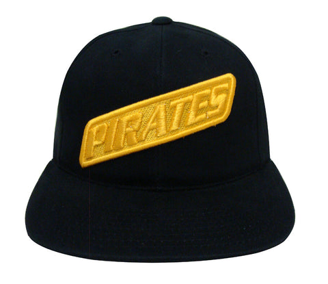 Pittsburgh Pirates Snapback Retro Vintage Name Cap Hat Black