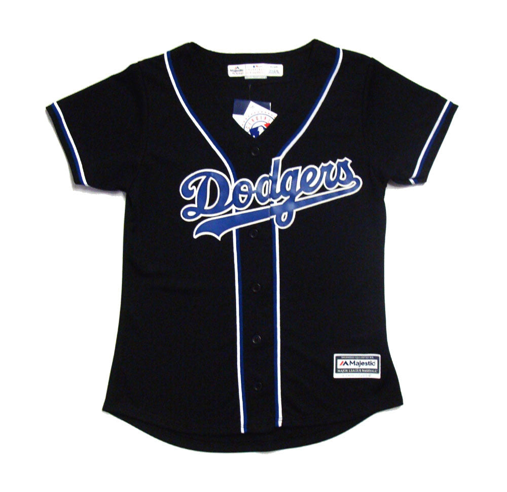 Los Angeles Dodgers Womens Jersey Cool Base Majestic Custom Jersey Black 8305230ad