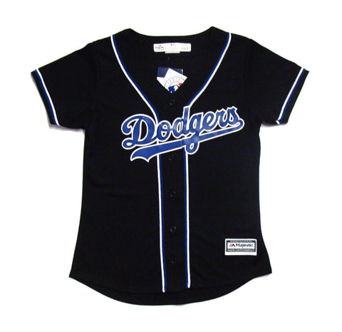 Los Angeles Dodgers Womens Jersey Cool Base Majestic Custom Jersey Black