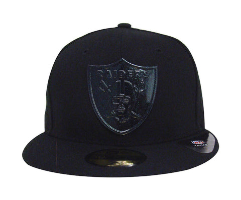 Oakland Raiders Fitted New Era 59FIFTY Speckle Sheen Cap Hat Black