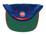 Detroit Pistons Snapback Retro Name & Logo Vintage Cap Hat Blue Red