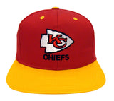 Kansas City Chiefs Snapback Retro Vintage Name & Logo Cap Hat Red Yellow