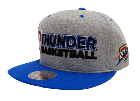 Oklahoma City Thunder Snapback Mitchell & Ness Heather Jersey Cap Grey Blue