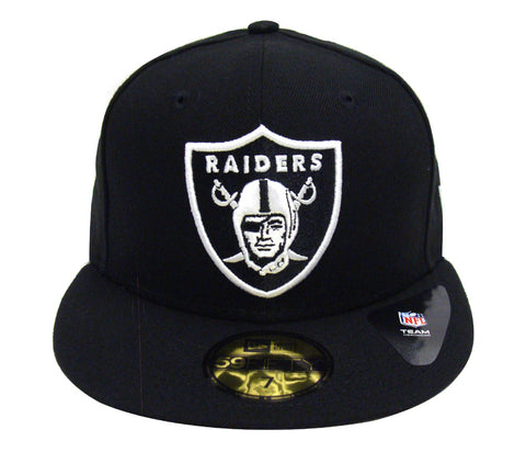 Oakland Raiders Fitted League Basic New Era 59Fifty Cap Hat Black 9e8f59d88