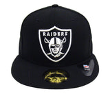Oakland Raiders Fitted League Basic New Era 59Fifty Cap Hat Black