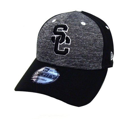 USC Trojans Adjustable New Era The League Shadow Cap Hat Black Charcoal