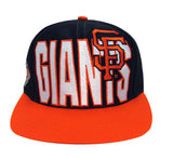 San Francisco Giants Snapback Retro Vintage Block Cap Hat Black Orange