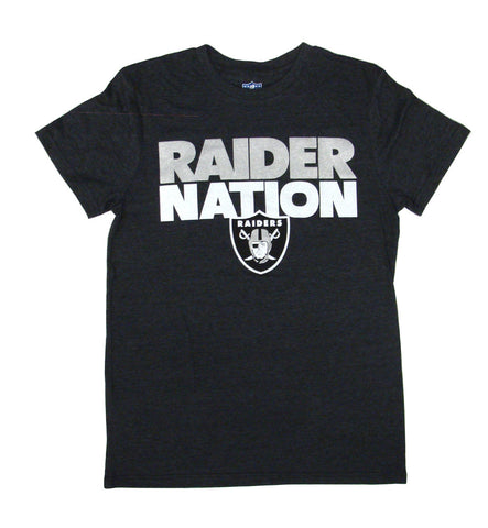 Oakland Raiders Mens T-Shirt G-III RAIDER NATION Black