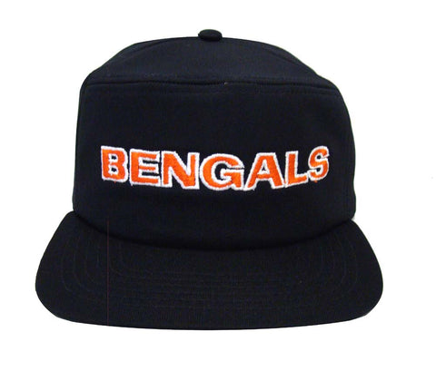 Cincinnati Bengals Snapback Retro Vintage Pillbox Cap Hat Black