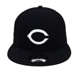 Cincinnati Reds Snapback New Era White Logo & Snaps Cap Hat Black