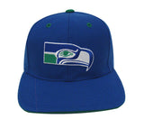 Seattle Seahawks Snapback Retro Vintage Logo Cap Hat Blue