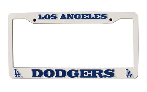 Los Angeles Dodgers White Plastic License Plate Frame