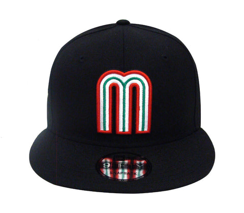 Mexico Snapback New Era 9FIFTY World Baseball Classics Cap Hat Black
