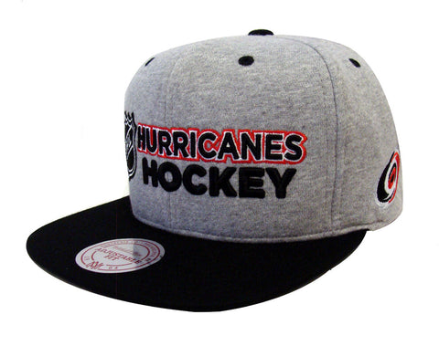 Carolina Hurricanes Snapback Mitchell & Ness Heather Jersey Cap Hat Grey Black