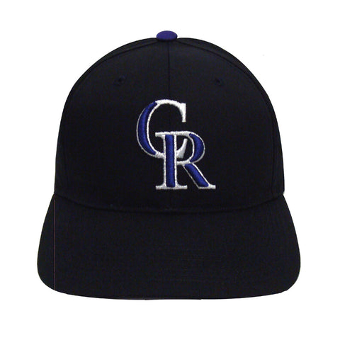 Colorado Rockies Vintage Snapback Cap Hat Black