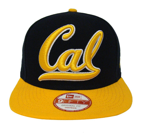 California Golden Bears Snapback New Era Grand Redux Cap Hat Navy Yellow