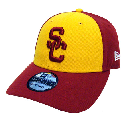 USC Trojans Adjustable New Era The League Blocked Cap Hat Burgundy Yellow