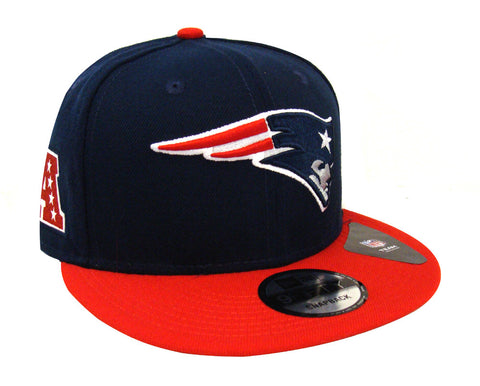New England Patriots Snapback New Era Team Patcher Cap Hat Navy Red
