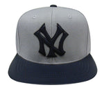 New York Yankees Strapback American Needle Apple Cap Hat Grey Navy
