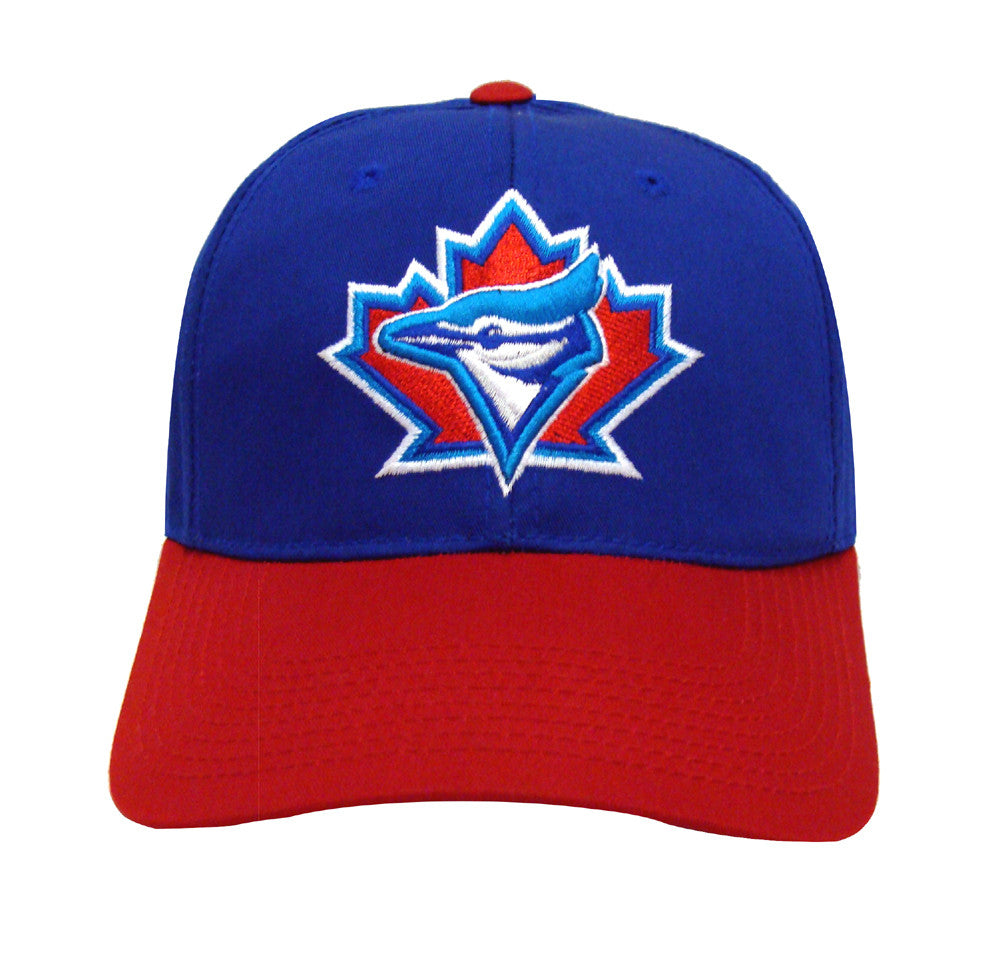 fb04b58a9e1c9 Toronto Blue Jays Snapback Retro Vintage Logo Cap Hat Blue Red – THE ...
