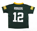 Green Bay Packers #12 Rodgers Toddler 2T-4T Green Name & Number Jersey