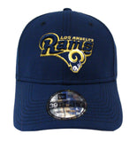 Los Angeles Rams Fitted New Era 39Thirty Name & Logo Cap Hat Navy