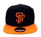San Francisco Giants Snapback AN Retro Replica Wool Cap Hat Black Orange