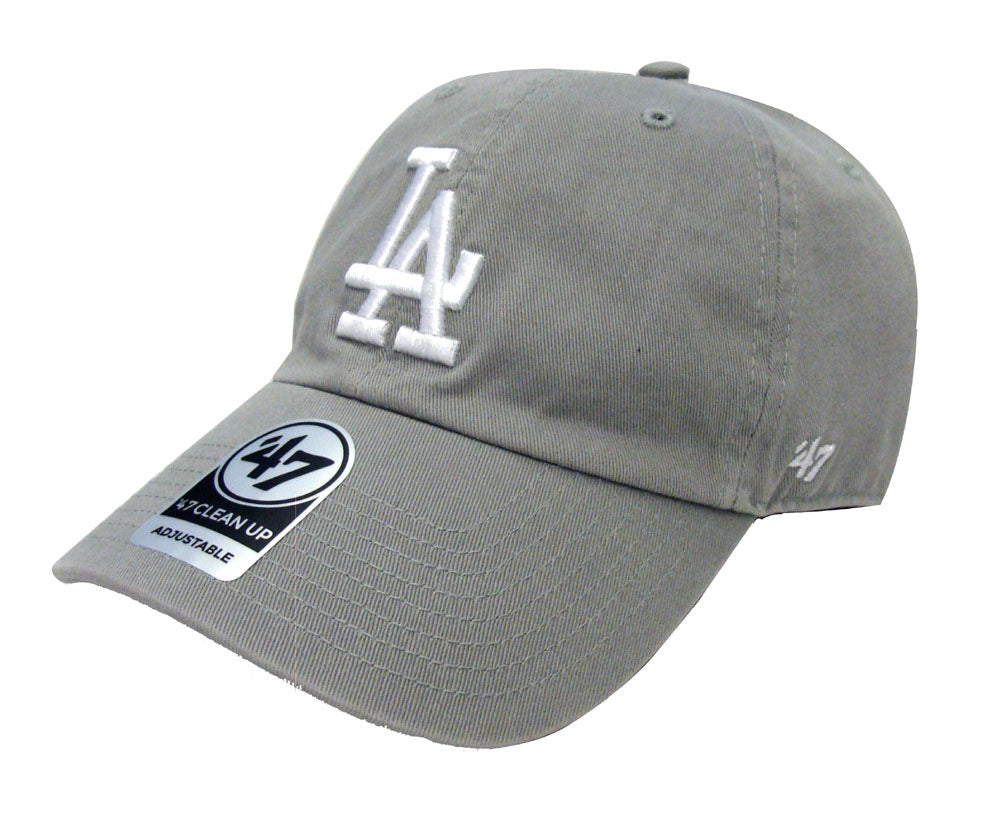 new product 4b330 0ab16 Los Angeles Dodgers Strapback  47 Brand Clean Up Adjustable Cap Hat Grey